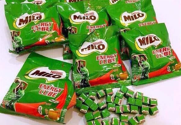 Bánh kẹo Thái Lan nhãn hiệu Milo: