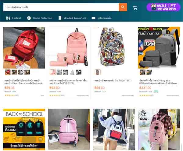 Order balo Thái Lan online